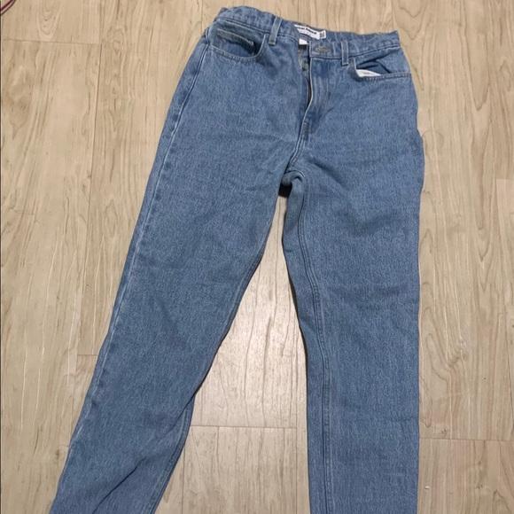 American Apparel Denim - American Apparel Light Denim High Waisted Jeans